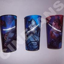 :: Batman Vs Superman :: Set Completo 3 Vasos 3d Medianos