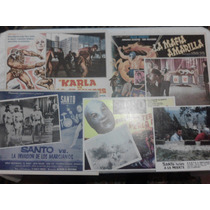 Lote Carteles De Cine De Lucha Santo Blue Demon Lobby Card