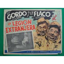 El Gordo Y El Flaco La Legion Extranjera Orig Cartel De Cine