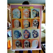 Mil Mascaras Poster De Sus Mascaras Tamaño Grande