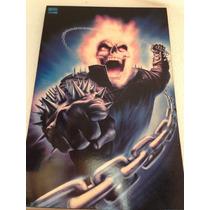 Poster Ghost Rider Marvel Ya Enmarcado