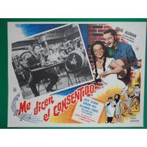 Julio Aleman Me Dicen El Consentido Original Cartel De Cine