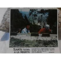 Lobby Card Cartel Cine Santo Frente A La Muerte Antiguo