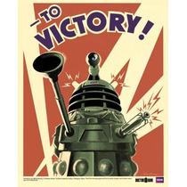 El Doctor Who Cartel - Dalek A La Victoria Mini 40cmx 50cm N