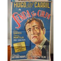 Poste Senda Sin Culpa A Media Luz Hugo Del Carril Sara Guash