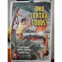 Poster Uno Contra Todos Jeffrey Hunter Marshall Thomson 1962