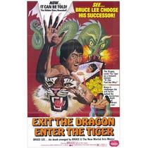 Salida La Dragón Entrar La Tigre Cartel Impresión