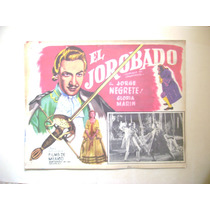 El Jorobado Jorge Negrete Lobby Card Cartel Poster B