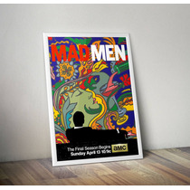 Poster Mad Men Arte Milton Glaser Ultima Temporada 80x120cm
