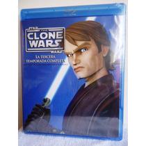 Star Wars, La Guerra De Los Clones Temporada 3, Tres Blu-ray