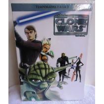 Star Wars, La Guerra De Los Clones Temporadas: 1,2,3 En Dvd