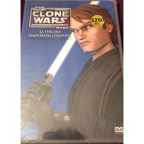 Star Wars, The Clone Wars Temporada 3 Tres En Dvd.