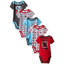 Dc Shoes Co Bebé-niños Recién Nacidos Paquete De 5 Bodysuits