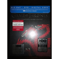 Game Of Thrones Temporada 3 Blu-ray+dvd Targaryen Edition