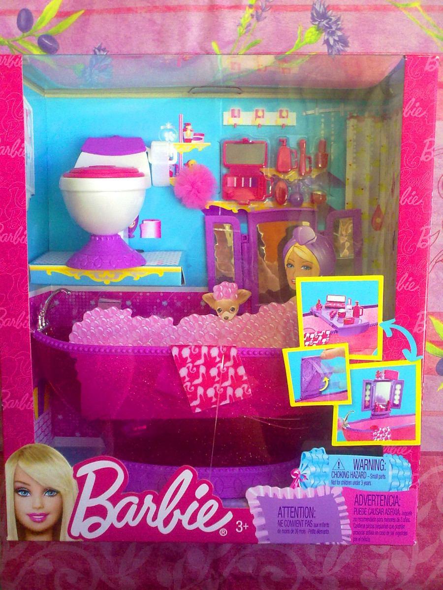 Set Juguetes De Baño Jane:Set De Bano Muebles Y Accesorios Para Barbie – $ 50000 en