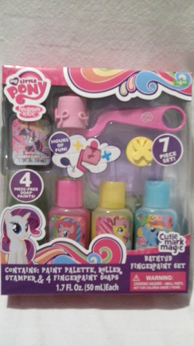 Set De Baño De Navidad:Set De Pintura Para Baño My Little Pony! Original, Navidad – $ 45000