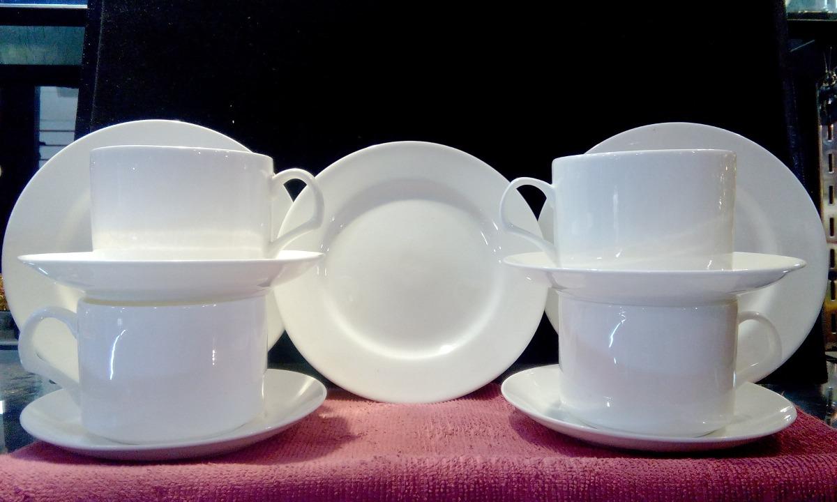 Set de tazas de cafe porcelana fina en mercadolibre for Tazas porcelana