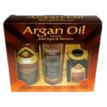 Kit Argan Oil Shampoo, Aceite Y Mascarilla - Envio Gratis