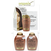 Organix 3 Pz Alaciador Queratina Keratin +shampoo+acondicion