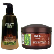 Dúo Morocco Argan Oil Shampoo 750ml Y Mascarilla 500ml