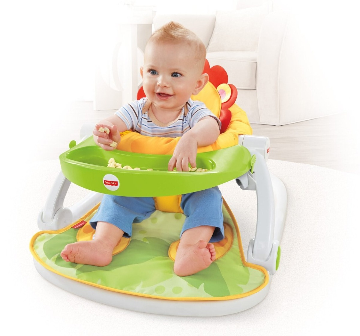 Silla para bebe fisher price plegable con bandeja o mesita for Silla fisher price
