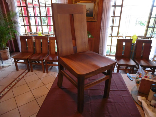 Sillas comedor madera parota 2 en mercadolibre for Como hacer sillas de madera para comedor