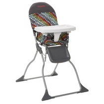 Silla Comedor Cosco Fold Simple Trona, Rainbow Dots