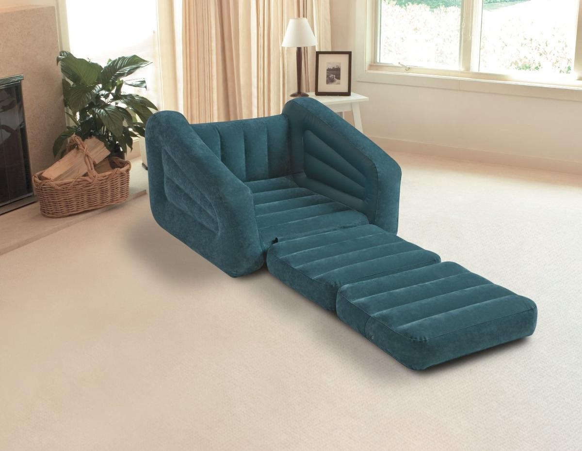 Sillon comodo inflable cama individual intex envio gratis for Sillon cama individual