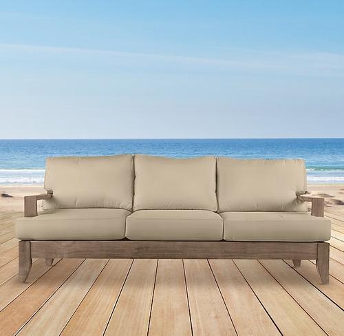 Sillon terraza exterior madera teka cojines 17 for Sofa exterior terraza