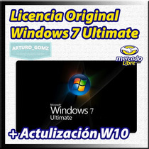 Windows 7 Ultimate Retail Con Actualización Gratuita W10