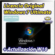 Windows 7 Ultimate Retail Con Actualización Gratuita W10