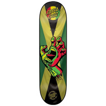 Santa Cruz Team Rasta Hand Jammin Skateboard Deck 7.8
