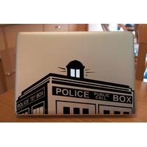 Doctor Who Police Box Sticker Macbook