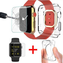 Kit Protector Transparente + Mica Premium Apple Watch 38mm