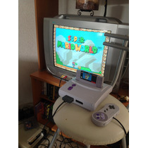 Super Nintendo Jr Snes Completo Mas Super Mario World