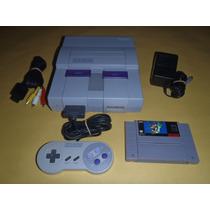 Super Nintendo Completo, 1 Control Con Super Mario World R3
