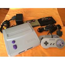 Súper Nintendo Júnior Impecable Con Dos Juegos Completo!!!