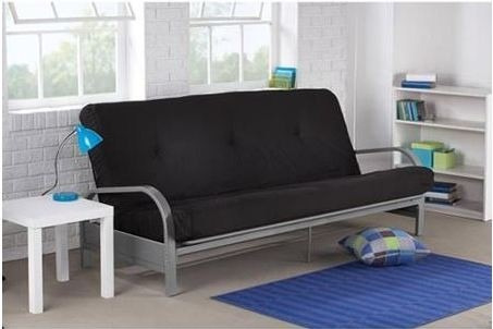 Sofa cama futon de metal mainstays 3 en for Futon para sofa cama