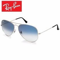 Gafas Ray Ban Aviador Blue Gradient Plata 3026 Azul Grande