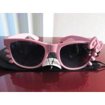 Lentes Sol Retro Vintage Tipo Kitty En Color Rosa Pastel