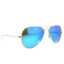 Ray Ban Aviator Espejo Azul Rb 3025 112/17 Gota Chica 55