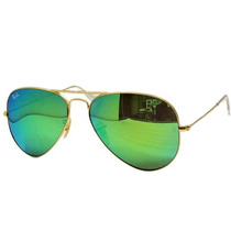Ray Ban Aviator Espejo Verde Chico 55 Rb 3025 112/19