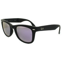 Ray Ban Wayfarer Folding Rb 4105 601 S4k Lilac Mirror
