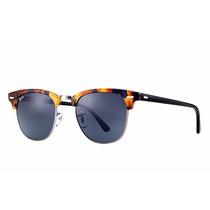 Lentes Rayban Rb3016 1158r5 Clubmaster Fleck Azul Clasico !!