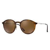 Ray Ban Rb4224 894/73 Round Light Ray Marron Clasico B-15 !!