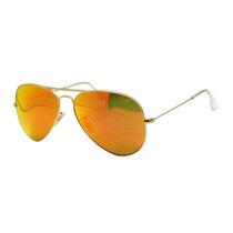 Ray Ban Aviator Espejo Naranja Rb 3026 112/69 Gota Grande
