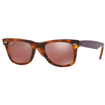 Ray Ban Wayfarer Rb 2140 1177/2k Tortoise Orange Mirror