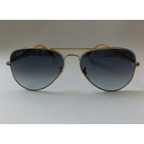 Lentes Ray Ban Aviador Rb3025 001/3f Dorado+azul Degradado