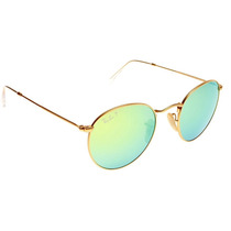 Ray Ban Round Flash 3447 112/p9 Polarized Green Flash Espejo