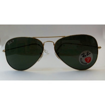 Ray Ban Aviador Rb3025 Marco Dorado Polarizado 001/58 58mm